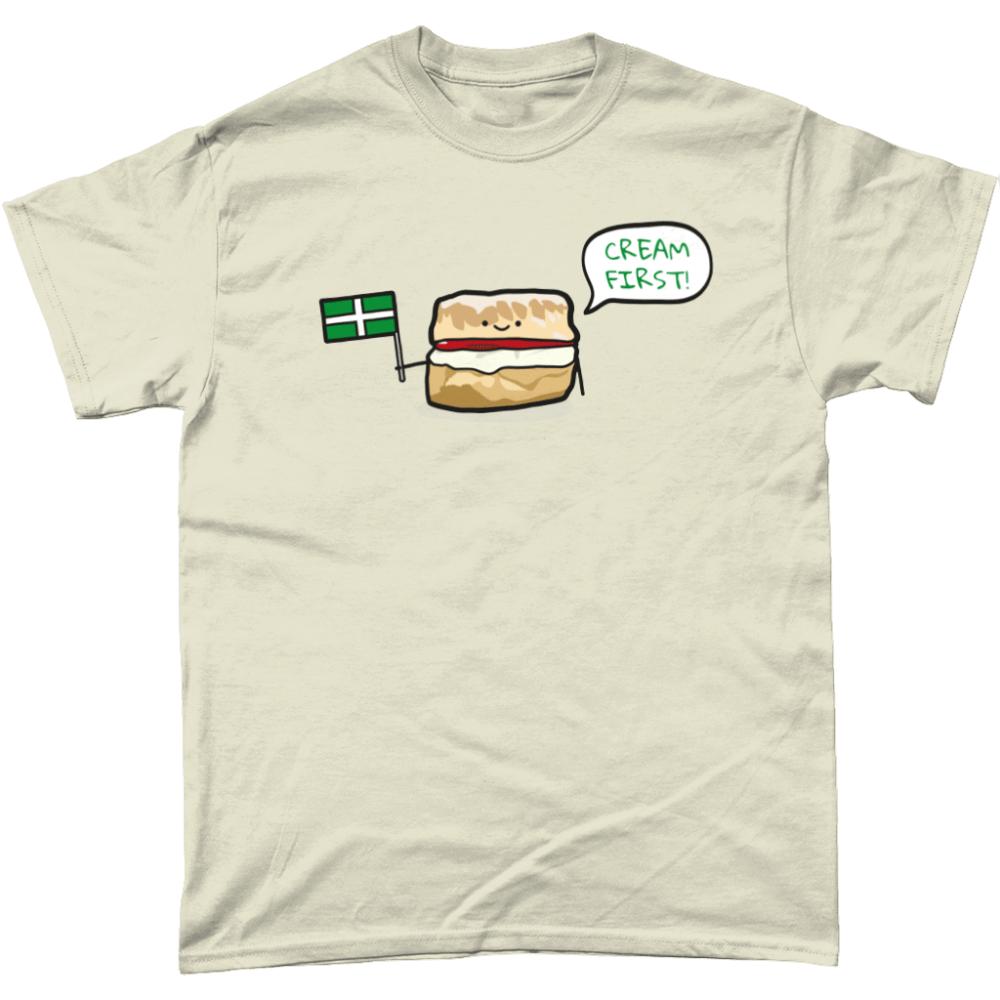 Cream First Scone T-Shirt Design Natural
