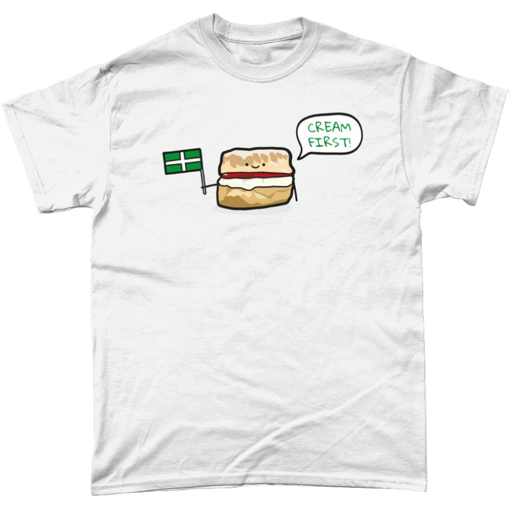 Cream First Scone T-Shirt Design White