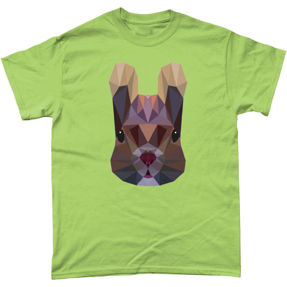 Low Poly Squirrel T-Shirt Design Kiwi