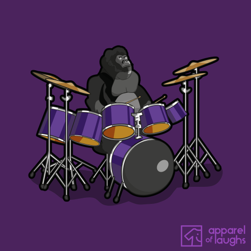 Cadbury Chocolate Gorilla Advert T Shirt Design Phil Collins Purple