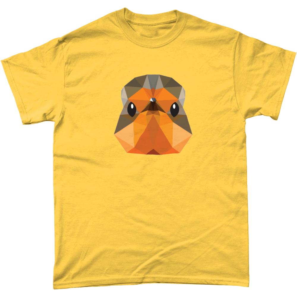 Low Poly Robin T Shirt Design Daisy