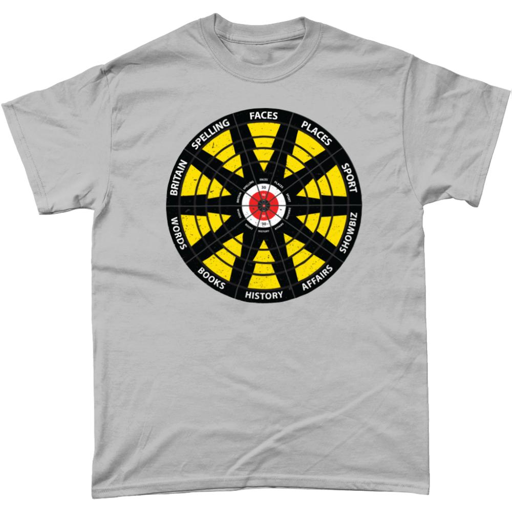 Bullseye Darts Question Board T Shirt Design Sports Grey