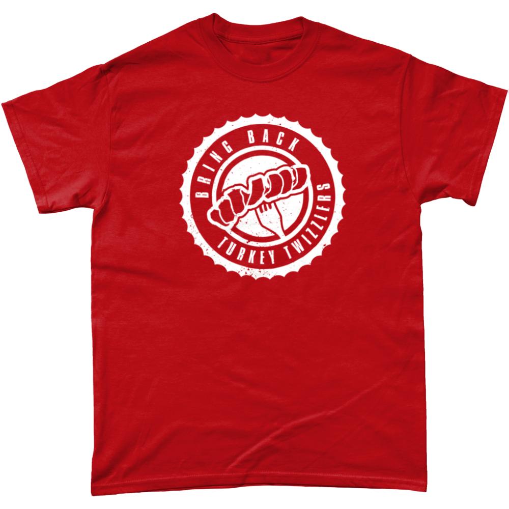 Bring Back Turkey Twizzlers T Shirt Design Red