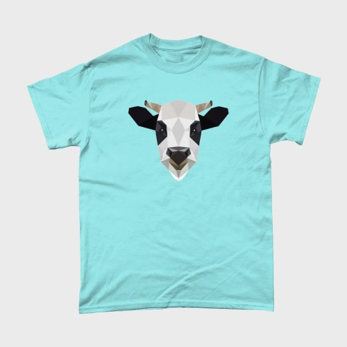 Low Poly Cow Farm Animal T Shirt
