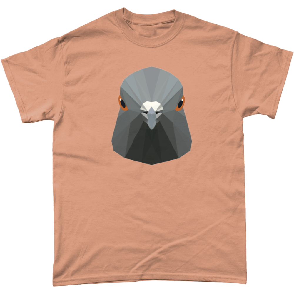 Low Poly Pigeon T Shirt Old Gold