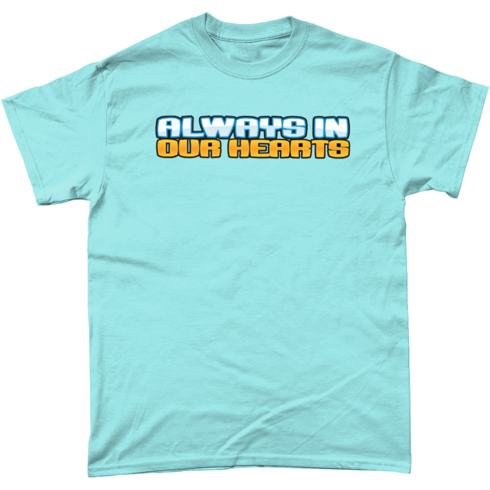 Always in our Hearts Club Penguin T Shirt Light Blue