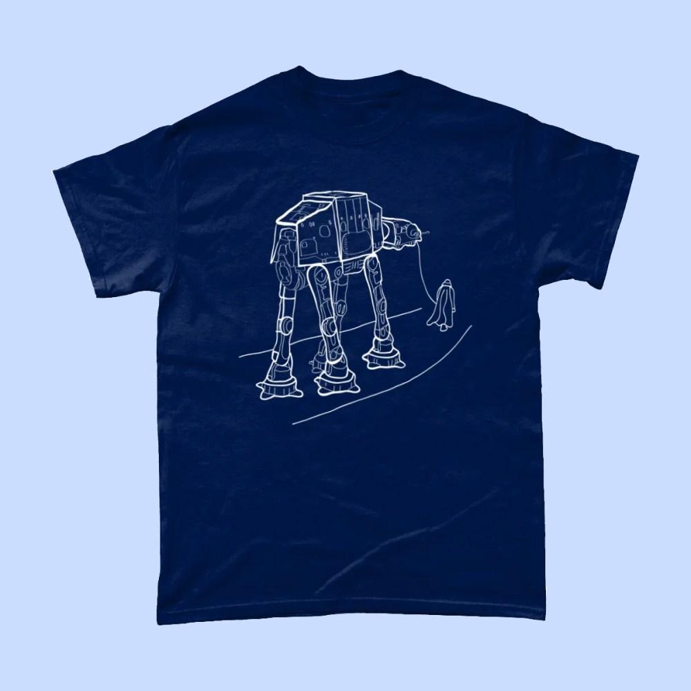 Star Wars Walkies Darth Vader AT AT T Shirt