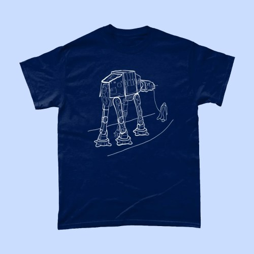 Star Wars Walkies Darth Vader AT AT T Shirt