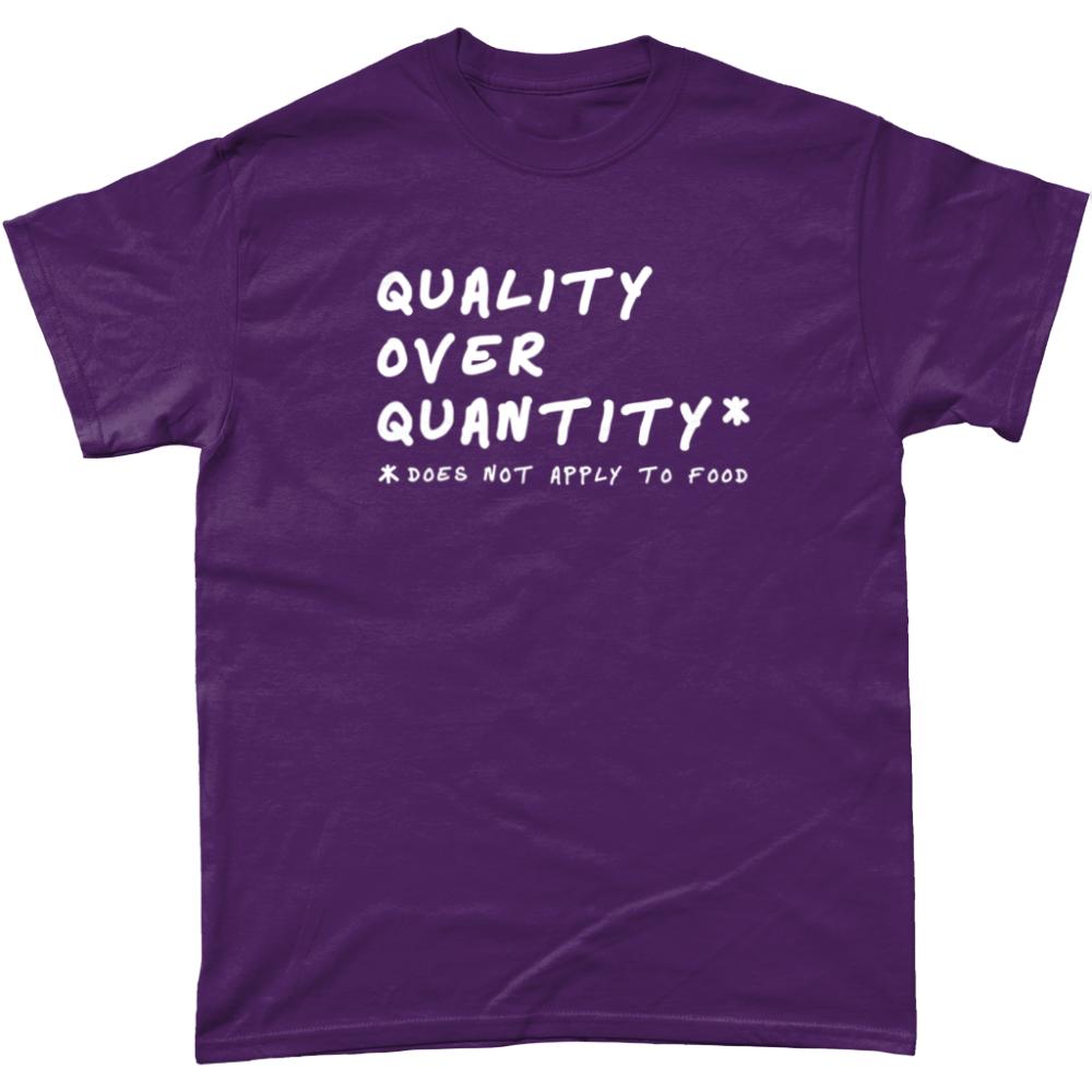 Quality Over Quantity Food T Shirt Purple