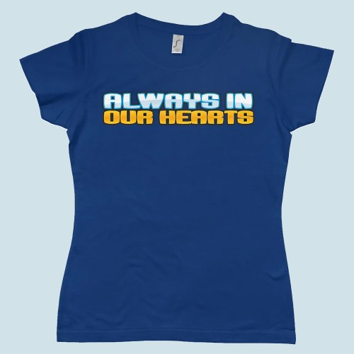 Club Penguin Always in Our Heart Womens T Shirt Denim