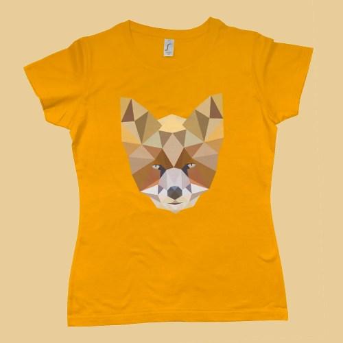 Low Poly Fox Womens T Shirt Design