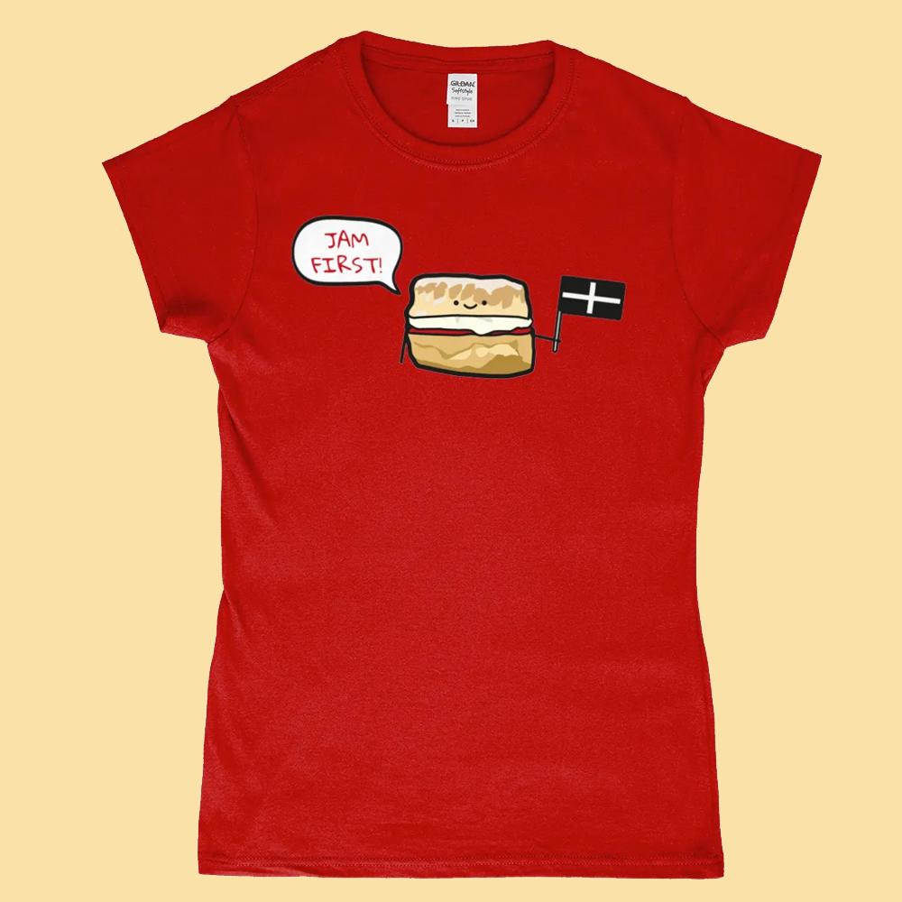 Jam First Cornwall Scone T Shirt Design