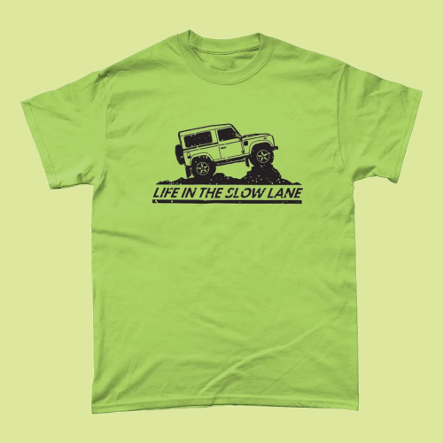 Life in the Slow Lane Land Rover Off Road Men's T-Shirt Kiwi