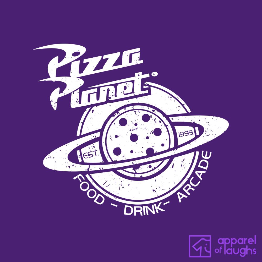 Pizza Planet Pixar Toy Story Disney Hoodie Design Purple