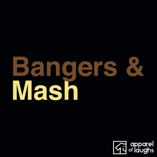 Bangers and Mash British Food Men's T-Shirt Black
