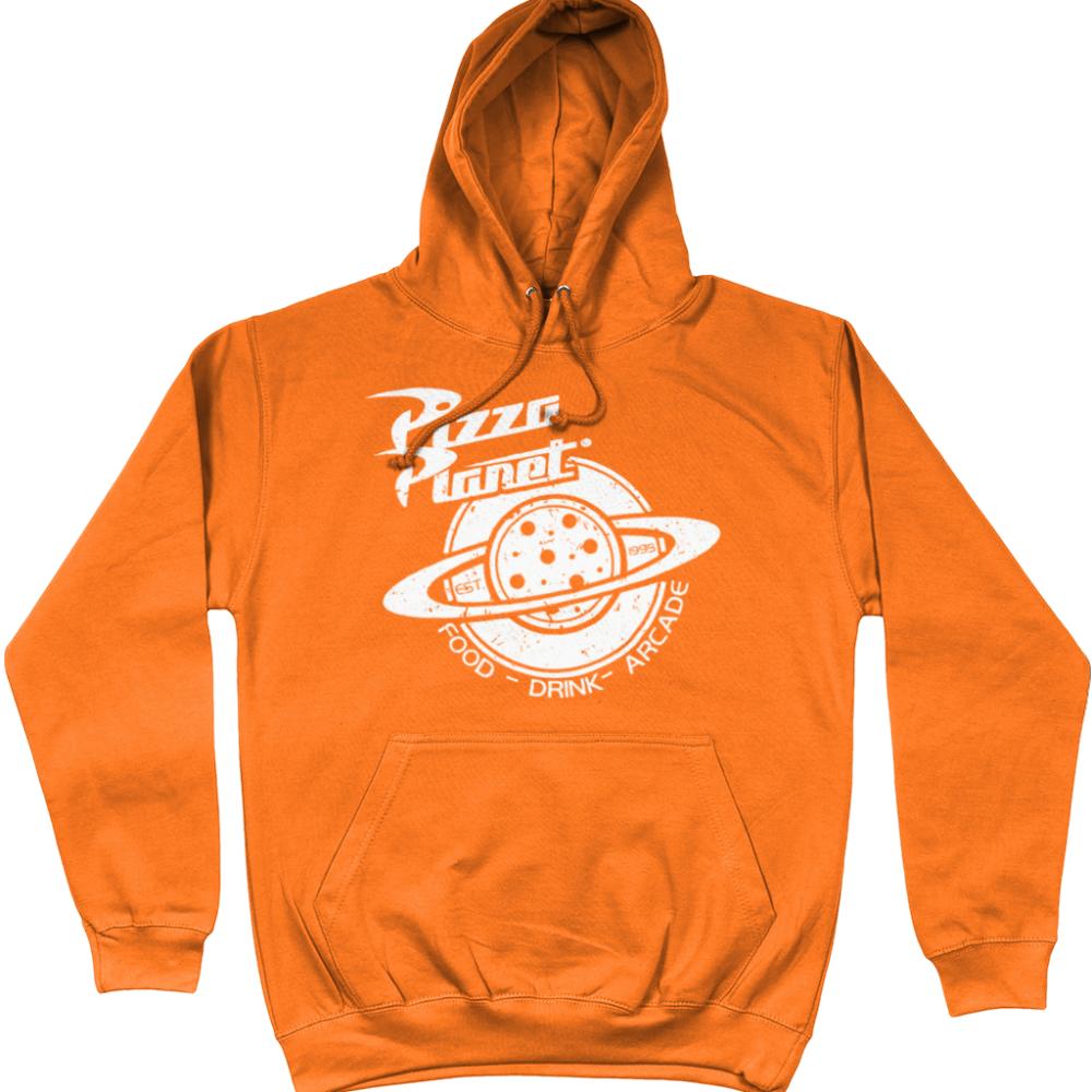 Pizza Planet Pixar Toy Story Disney Hoodie Orange
