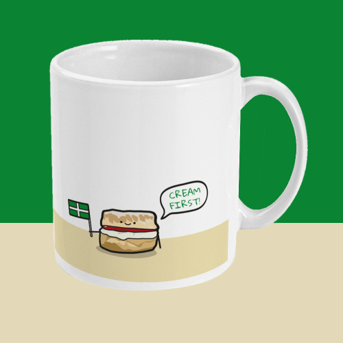 Cream First Scone Devon Mug Right