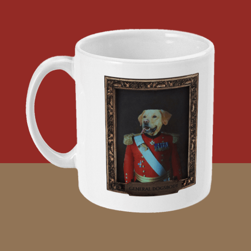 General Dogsbody Dog Comedy Mug Left