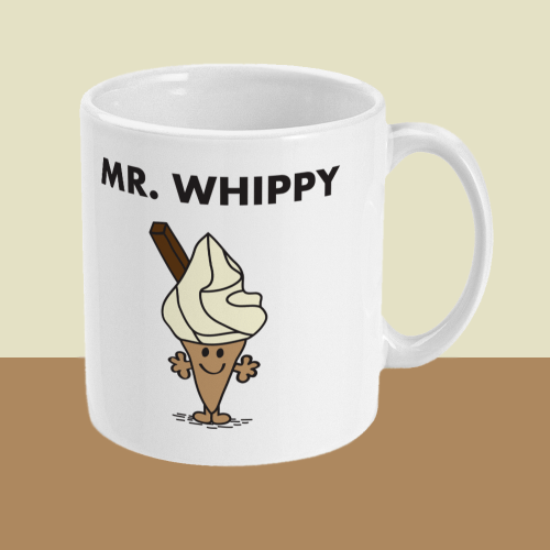 Mr Whippy Mr Men Ice Cream Comedy Mug Right