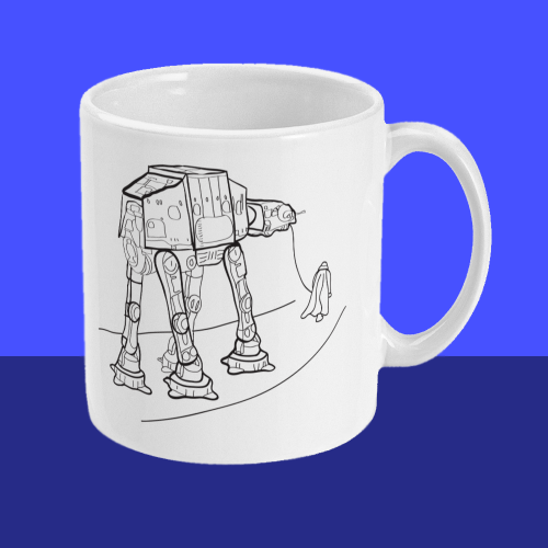 Star Wars Walkies AT-AT Darth Vader Mug Right