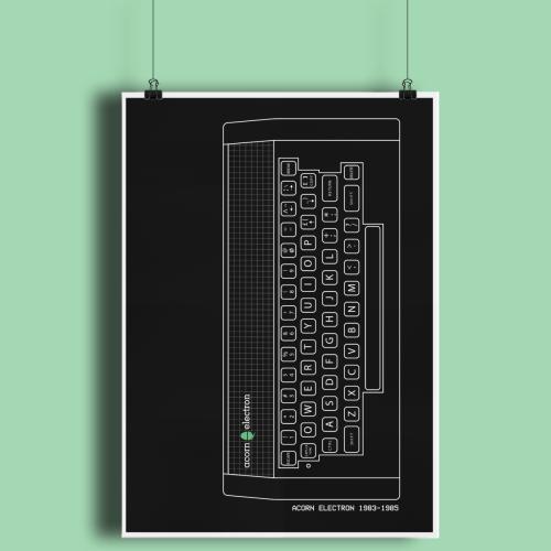Acorn Electron Retro Computer Hardware Fine Art Print A3