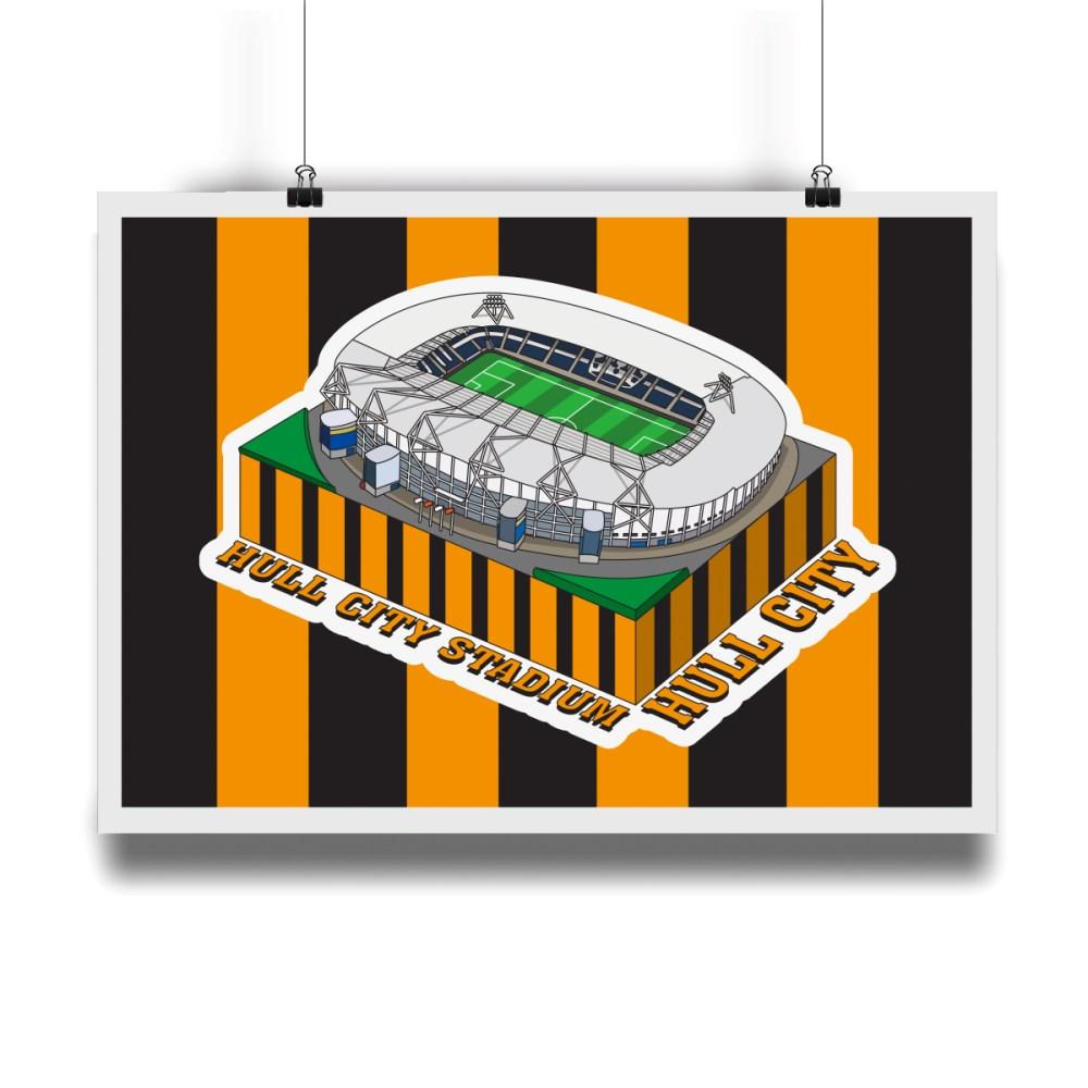 Hull City Hull City Stadium Hallowed Turf Football Stadium Illustration Print