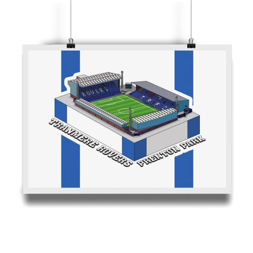 Tranmere Rovers Prenton Park Hallowed Turf Football Stadium Illustration Print