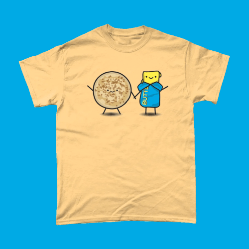 Butter and Crumpets Cute British Food Kawaii Men's T-Shirt Yellow Haze