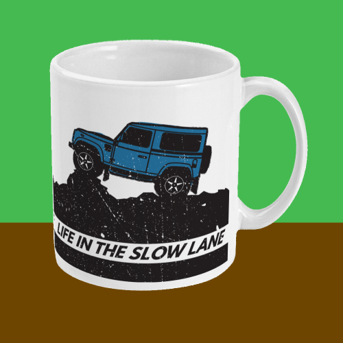Life in the Slow Lane Land Rover 4x4 Mug Right