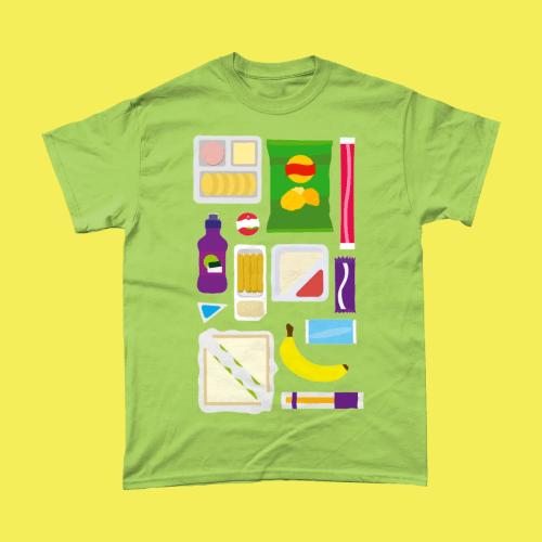 Primary School Lunch Box British Food Men's T-Shirt Kiwi