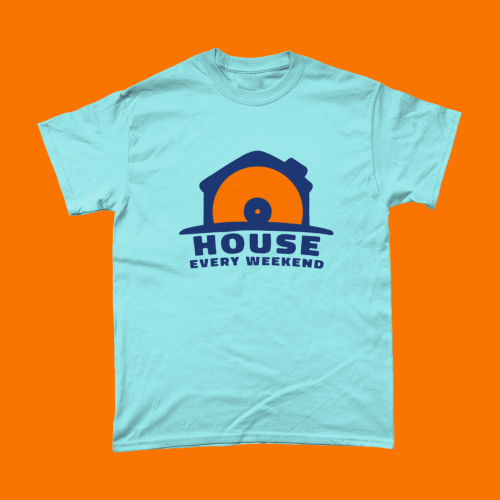 Big Blue House Every Weekend Music Men's T-Shirt Light Blue