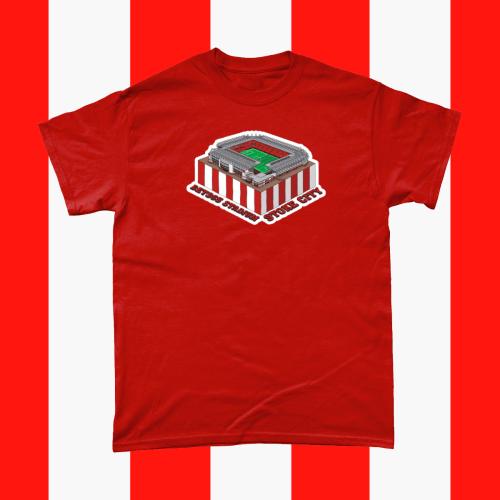 Stoke City Bet365 Stadium Football Illustration Men's T-Shirt Red