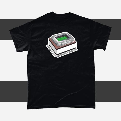 Swansea City Liberty Stadium Football Illustration Men's T-Shirt Black