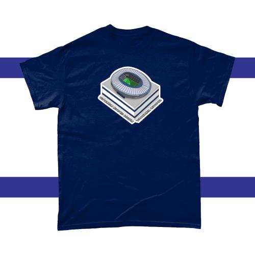 Tottenham Hotspur Stadium Football Illustration Men's T-Shirt Navy