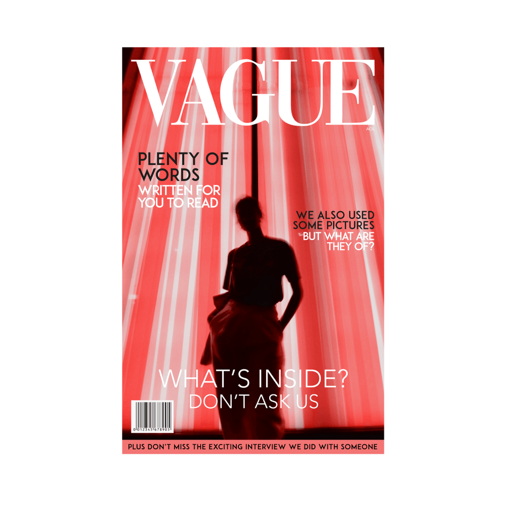 Vague Vouge Magazine Cover Women's T-Shirt Design White
