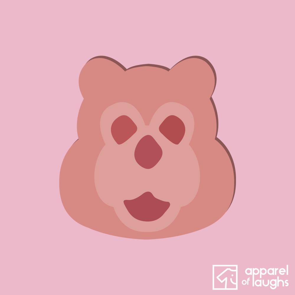 Billy Bear Ham British Food Hoodie Design Baby Pink