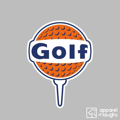 Golf Gulf Logo Sports Men's T-Shirt Design Sports Grey