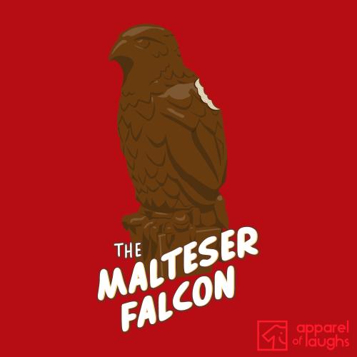 Malteser Maltese Falcon British Chocolate Maltesers Film Men's T-Shirt Design Red