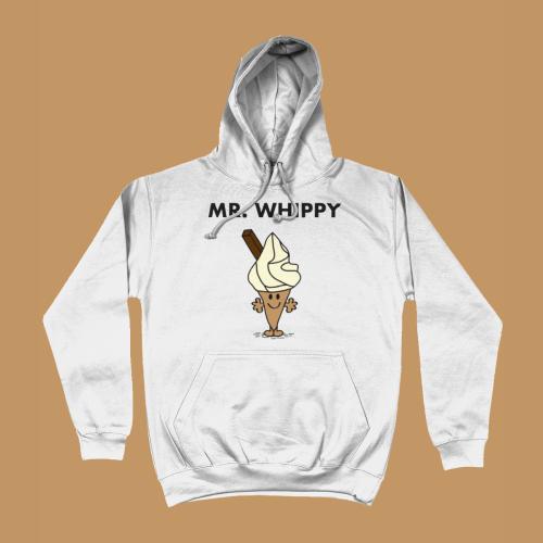 Mr Whippy Mr Men Book Hoodie White