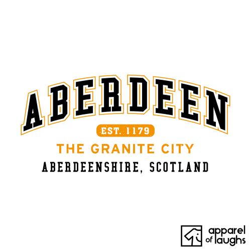 Aberdeen City Men's T-Shirt Women's Hoodie British Places White