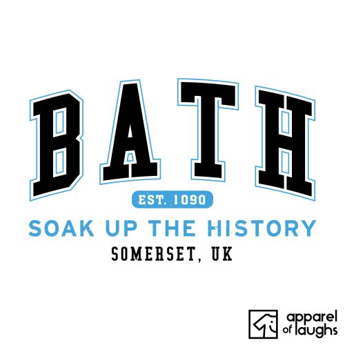 Bath City Men's T-Shirt Women's Hoodie British Places White