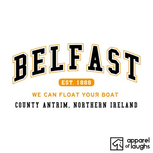 Belfast City Men's T-Shirt Women's Hoodie British Places White