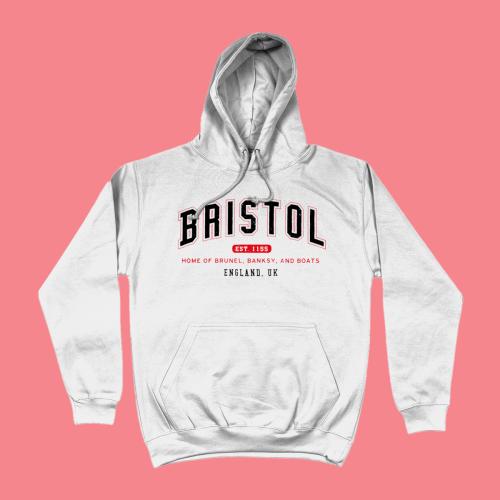 Bristol City Men's Apparel Women's Hoodie British Places White
