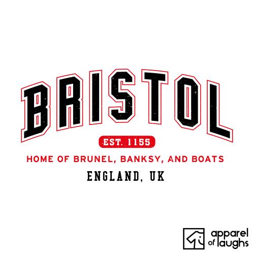 Bristol City Men's T-Shirt Women's Hoodie British Places White