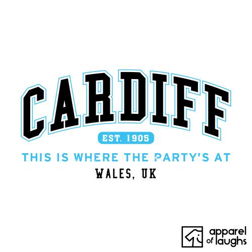 Cardiff City Men's T-Shirt Women's Hoodie British Places White