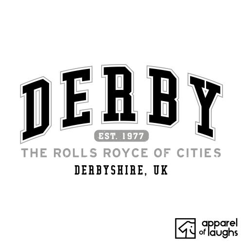 Derby City Men's T-Shirt Women's Hoodie British Places White