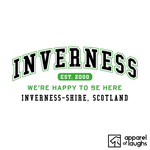 Inverness City Men's T-Shirt Women's Hoodie British Places White