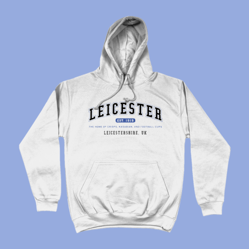 Leicester City Men's Apparel Women's Hoodie British Places White