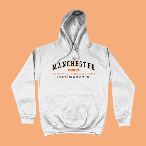 Manchester City Men's Apparel Women's Hoodie British Places White