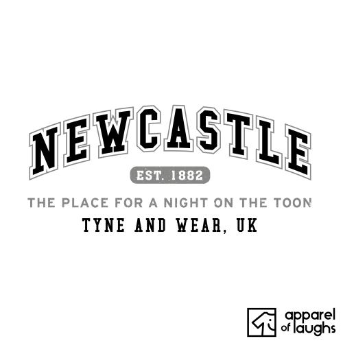 Newcastle City Men's T-Shirt Women's Hoodie British Places White